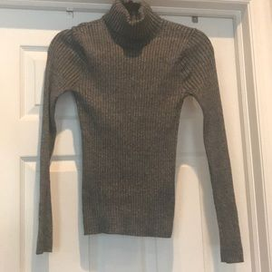 Express ribbed turtleneck sweater